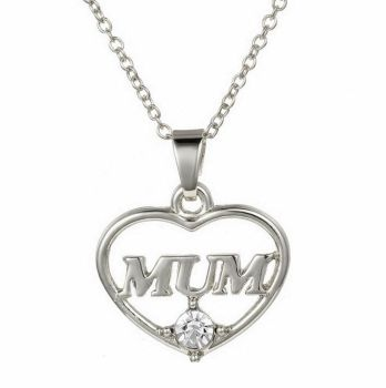 Mum Pendant Necklace - Silver