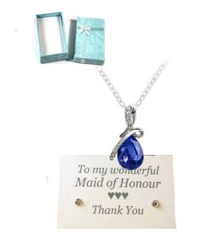 Maid of Honour Pendant Necklace - Royal Blue