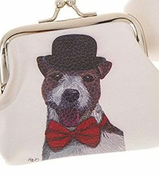 Dapper Dog Coin Purse Mr Dog