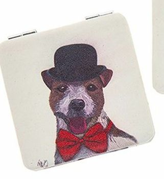 Dapper Dog Handbag Mirror Mr Dog