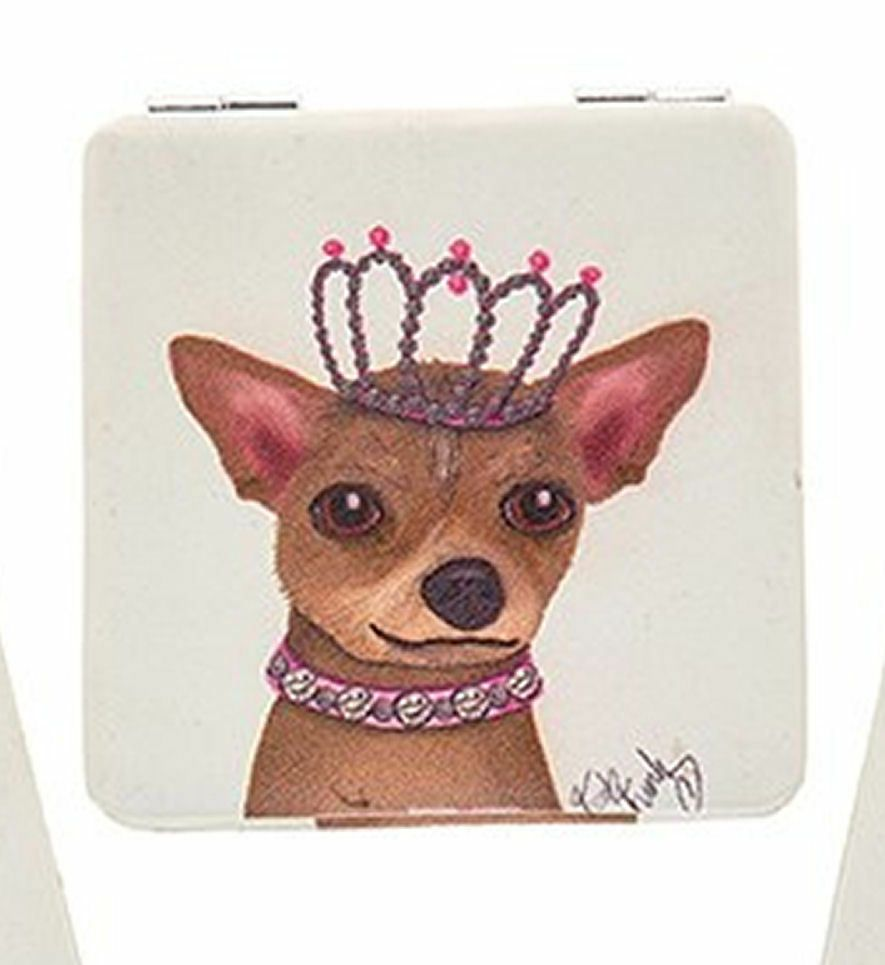Dapper Dog Handbag Mirror Princess Dog