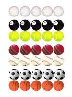 Sports Balls Die Cut Embellishments x 20
