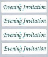 Wedding Evening Invitation Craft Sentiments Aqua