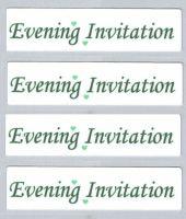 Wedding Evening Invitation Craft Sentiments Green