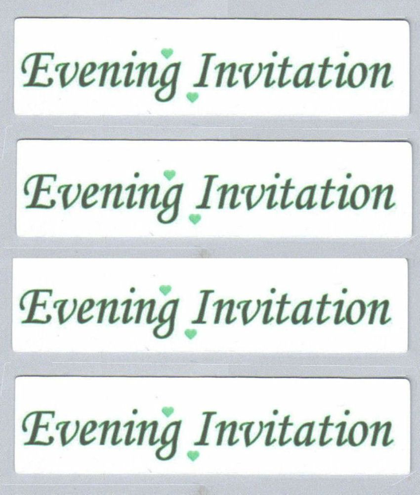 Wedding Evening Invitation Craft Sentiments Green