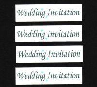 Wedding Invitation Craft Sentiments  Aqua x 30