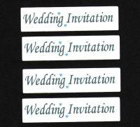 Wedding Invitation Craft Sentiments Blue x 30
