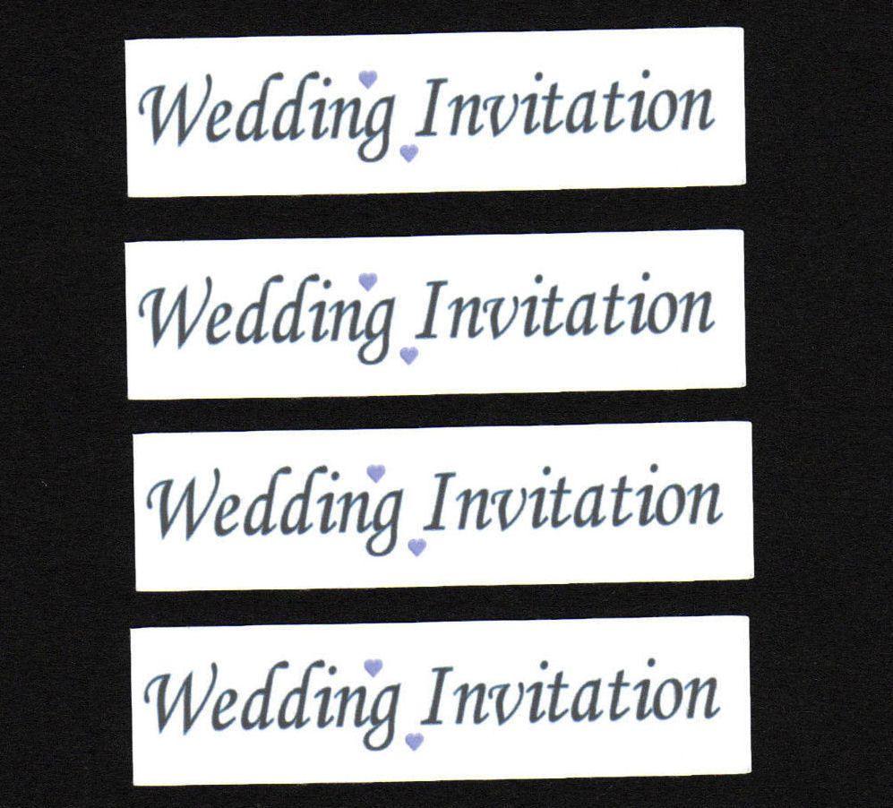 Wedding Invitation Craft Sentiments Lilac x 30