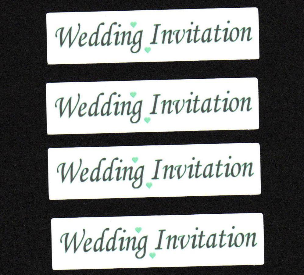 Wedding Invitation Craft Sentiments Green x 30