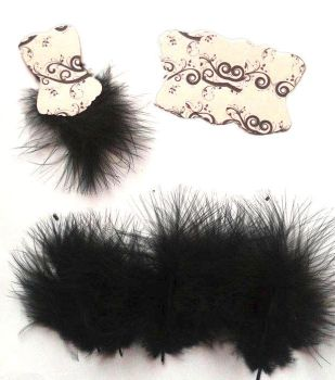 Die Cut Bodices with Fluffy Feathers White x 5