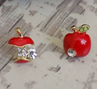 Red Apple Stud Earrings