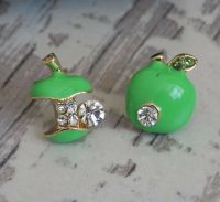 Green Apple Stud Earrings