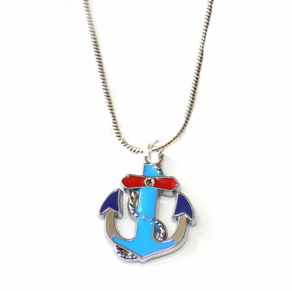 Anchor Silver Pendant Necklace Unisex Necklace