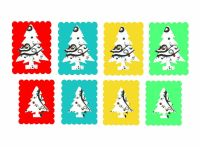 Christmas Tree Colourful Card Making Craft Toppers