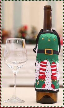 Elf Christmas Wine Bottle Apron Cover