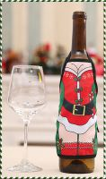 Mrs Santa Christmas Wine Bottle Apron Cover
