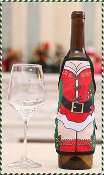 Mrs Santa Christmas Wine Bottle Apron Cover