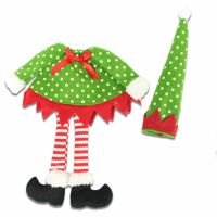 Christmas Wine Bottle Cover with Spotty Dangly Legs