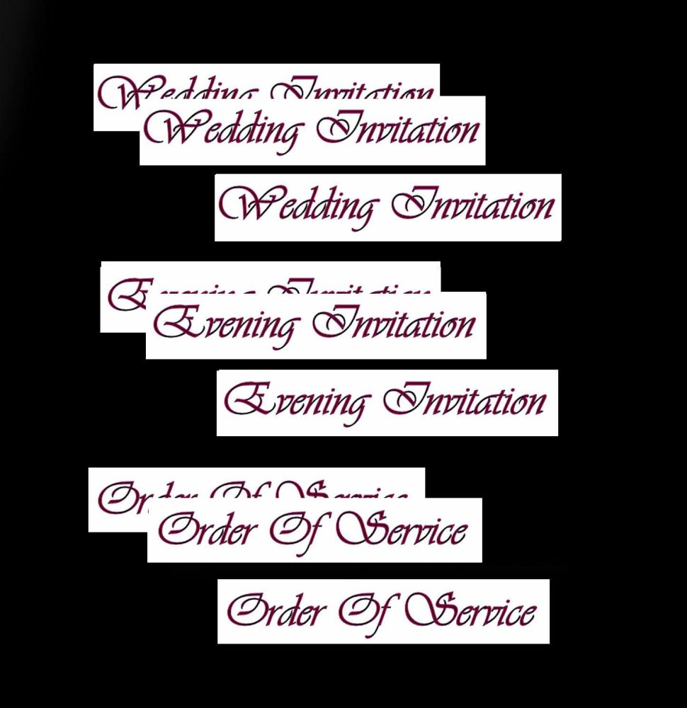 Wedding Evening Invitation, Order of Service Banners DIY Wedding Stationery