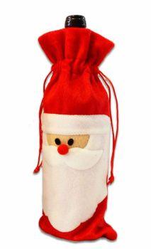 Christmas Wine Bottle Cover Red Santa