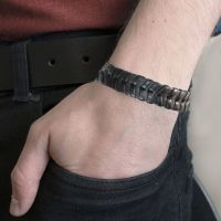 Men's Tribal Bracelet - Black