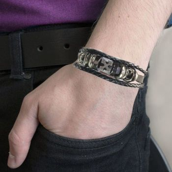 Men's Tribal Bracelet - Gothic Cross