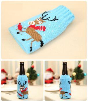 Christmas Reindeer Beer Alcopop Bottle Novelty Table Decoration