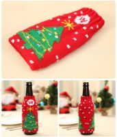 Christmas Tree Beer Alcopop Bottle Novelty Table Decoration