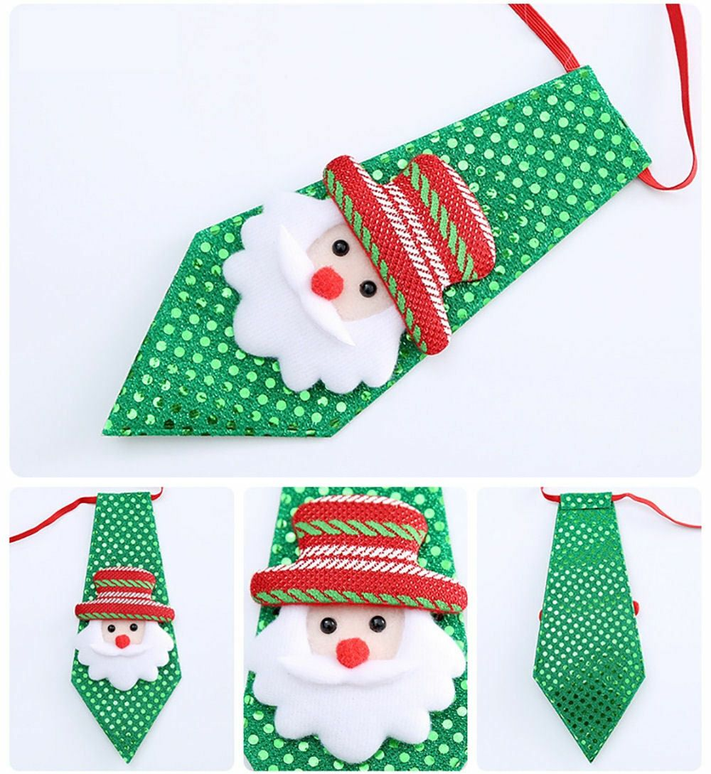 Santa Child's Christmas Novelty Sequin Tie