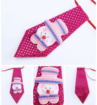 Snowman Child's Christmas Novelty Sequin Tie