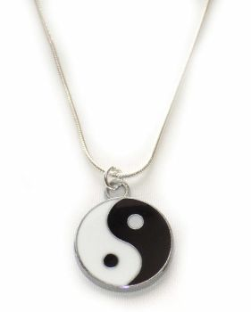 Yin Yang Silver Pendant Necklace