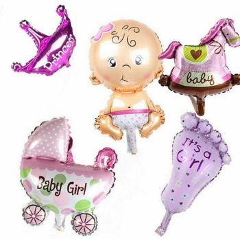 New Baby Foil Balloons It's A Girl x 5