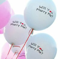 Wedding Proposal Marry Me Balloons in White x 5
