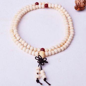 Buddhist Prayer Beaded Unisex Ivory Bracelet