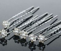 Bridal Rhinestone Flower Crystal Hairpins x 10
