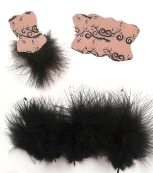 Die Cut Bodices with Fluffy Feathers Light Pink x 5