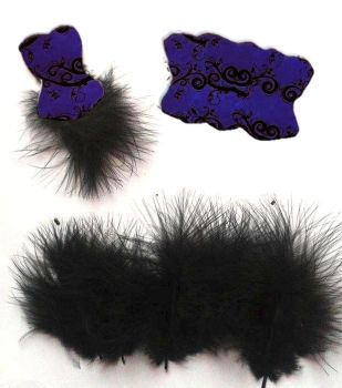 Die Cut Bodices with Fluffy Feathers Purple x 5
