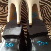 Groom Rhinestone Shoe Stickers - Me Too