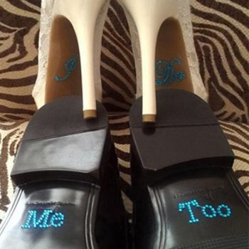 Groom Rhinestone Shoe Stickers - Me Too