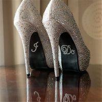 Bride Rhinestone Shoe Stickers - I Do
