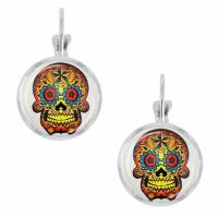 Sugar Skull Mexican Day of the Dead Earrings
