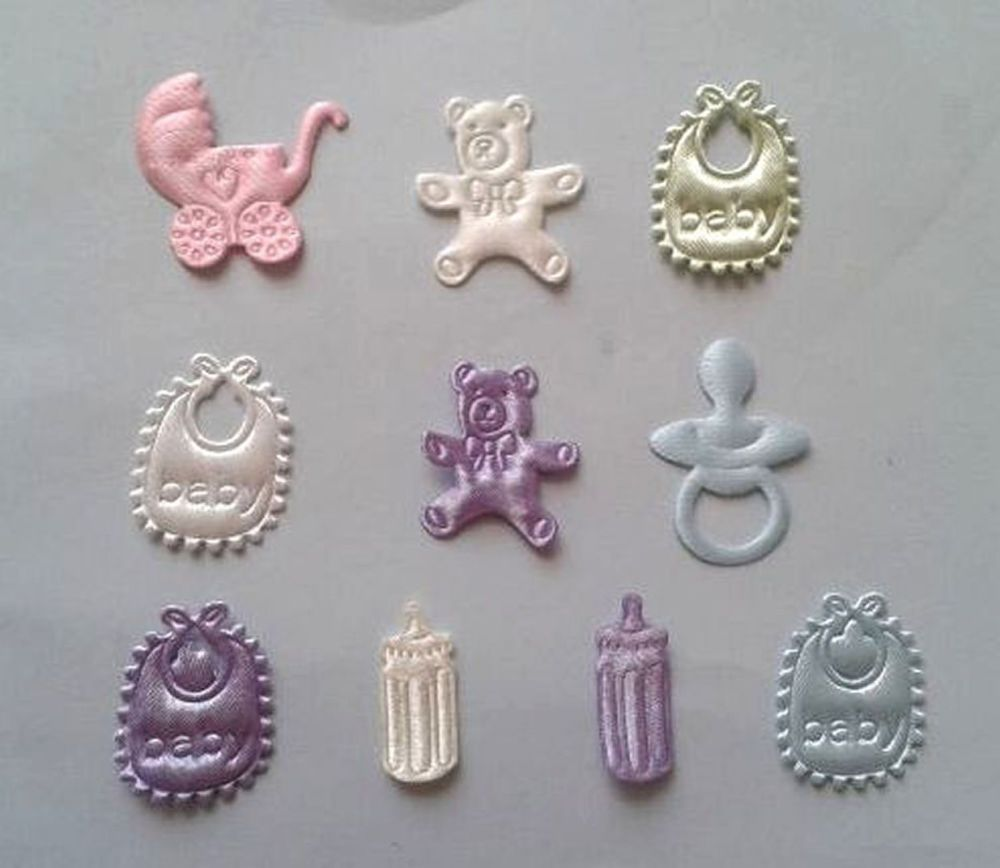 New Baby Fabric Padded Embellishments