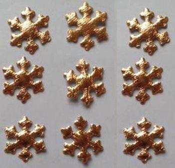 Christmas Snowflakes Gold