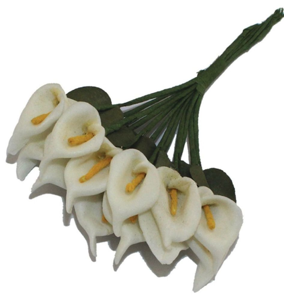 Artificial Lilies Flowers - Ivory