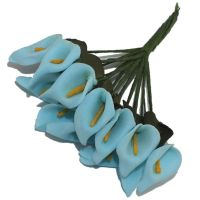 Artificial Lilies Flowers - Blue