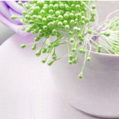 Pearl Flower Stamens - Pale Green