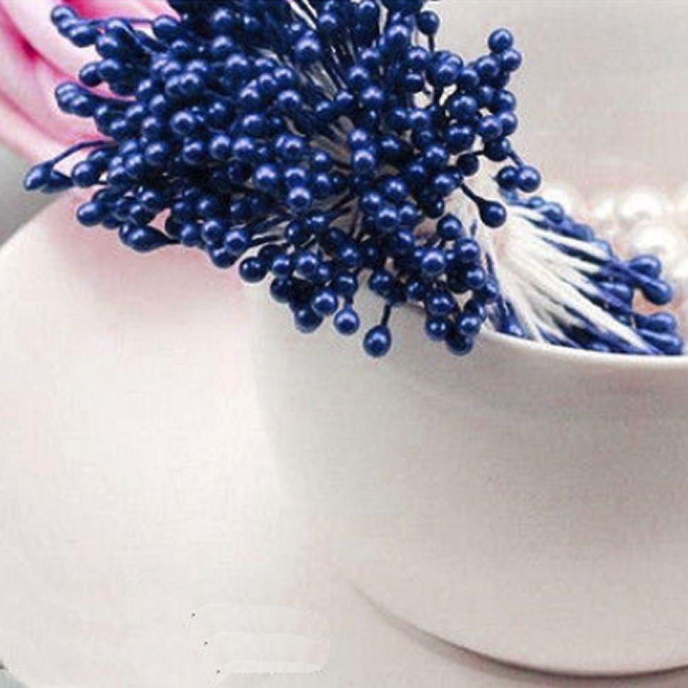 Pearl Flower Stamens - Dark Blue