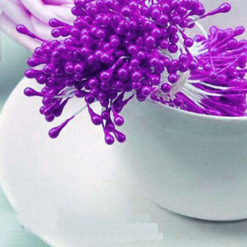 Pearl Flower Stamens - Purple