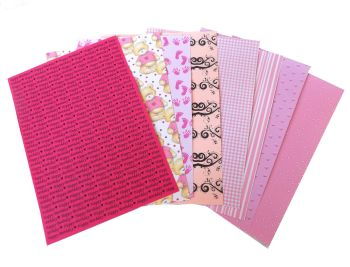 Pink Card Making Backing A5 Papers