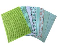 Green A5 Card Making Backing Papers
